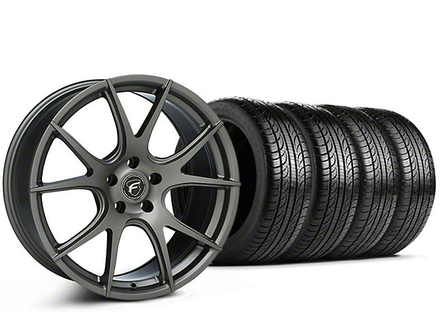 Forgestar CF5V Monoblock Gunmetal Wheel & Pirelli Tire Kit - 19x9 (05-14 All)