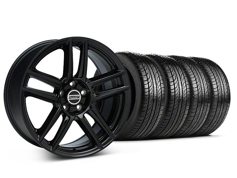 Laguna Seca Style Black Wheel & Pirelli Tire Kit - 19x9 (05-14 All)