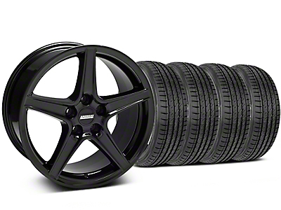 Saleen Style Black Wheel & Sumitomo Tire Kit - 19x8.5 (05-14 GT, V6)