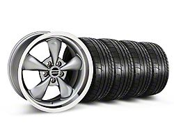 Staggered Deep Dish Bullitt Anthracite Wheel and Mickey Thompson Tire Kit; 18x9/10 (05-10 GT; 05-14 V6)