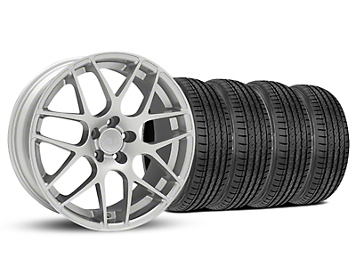 Staggered AMR Silver Wheel & Sumitomo Tire Kit - 19x8.5/10 (05-14 All)