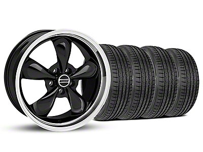Staggered Bullitt Black Wheel & Sumitomo Tire Kit - 19x8.5/10 (05-14 Standard GT, V6)