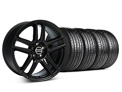 Staggered Laguna Seca Style Black Wheel & Sumitomo Tire Kit - 19x9/10 (05-14 All)