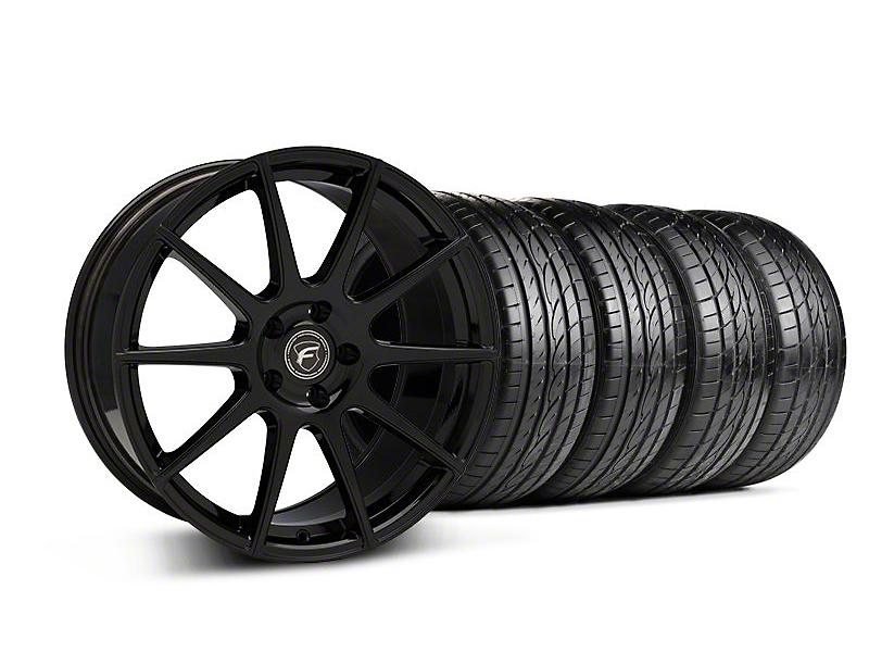 Staggered Forgestar CF10 Monoblock Piano Black Wheel & Sumitomo Tire Kit - 19x9/10 (05-14 All)