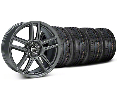 Staggered Laguna Seca Style Charcoal Wheel & NITTO INVO Tire Kit - 19x9/10 (05-14 All)