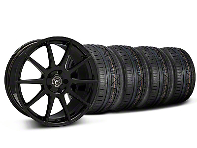 Staggered Forgestar CF10 Monoblock Piano Black Wheel & NITTO INVO Tire Kit - 19x9/10 (05-14 All)