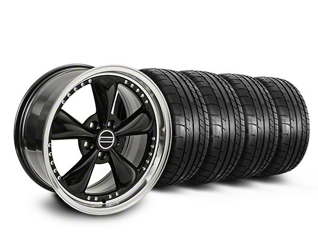 Staggered Bullitt Motorsport Black Wheel & Mickey Thompson Tire Kit - 20x8.5/10 (05-10 GT; 05-14 V6)