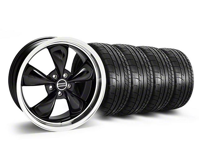Staggered Deep Dish Bullitt Black Wheel & Mickey Thompson Tire Kit - 20x8.5/10 (05-14 V6; 05-10 GT)