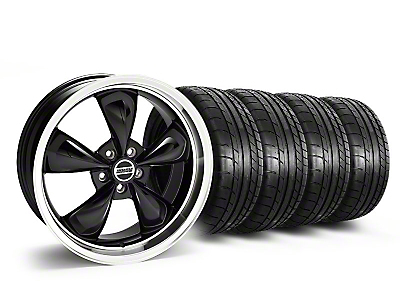 Staggered Deep Dish Bullitt Black Wheel & Mickey Thompson Tire Kit - 20x8.5/10 (05-10 GT; 05-14 V6)