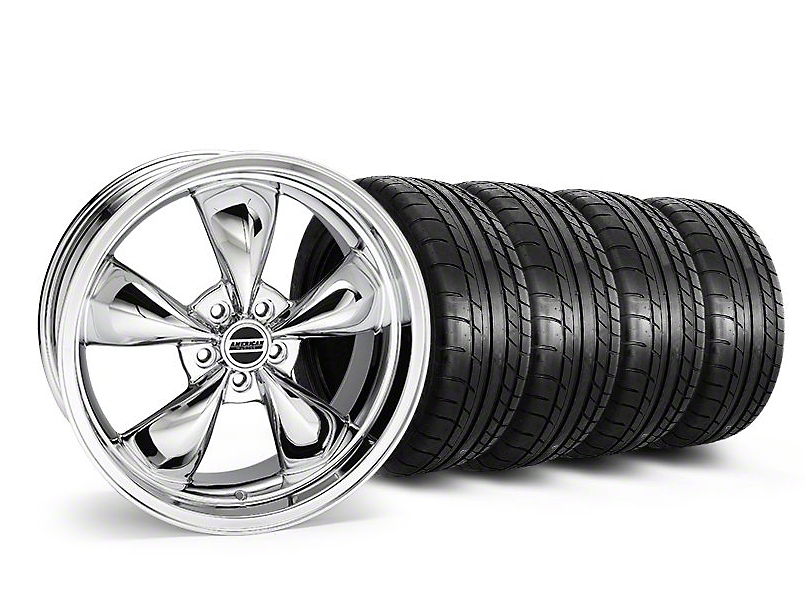 Staggered Deep Dish Bullitt Chrome Wheel & Mickey Thompson Tire Kit - 20x8.5/10 (05-10 GT; 05-14 V6)