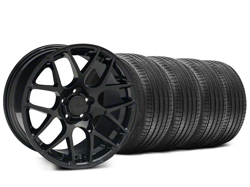 Staggered AMR Black Wheel & Sumitomo Tire Kit - 20x8.5/10 (05-14 All)