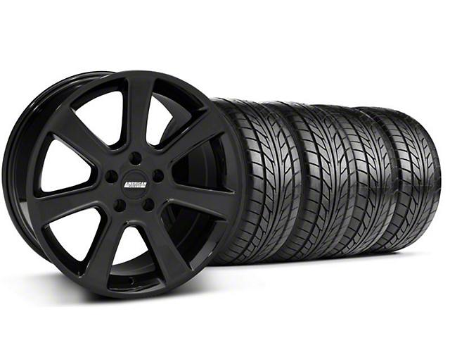 Saleen Style Black Wheel & NITTO NT555 Tire Kit - 17x9 (94-98 All)