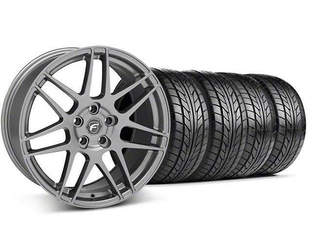 Forgestar F14 Monoblock Gunmetal Wheel & NITTO Tire Kit; 18x9 (94-98)
