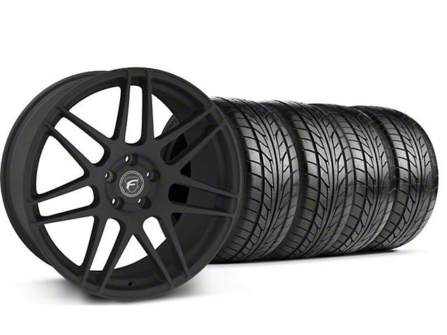Forgestar F14 Monoblock Textured Black Wheel & NITTO Tire Kit; 18x9 (94-98 All)