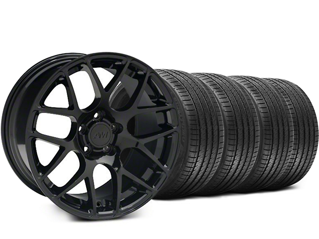 AMR Black Wheel and Sumitomo Maximum Performance HTR Z5 Tire Kit; 18x9 (94-98 All)