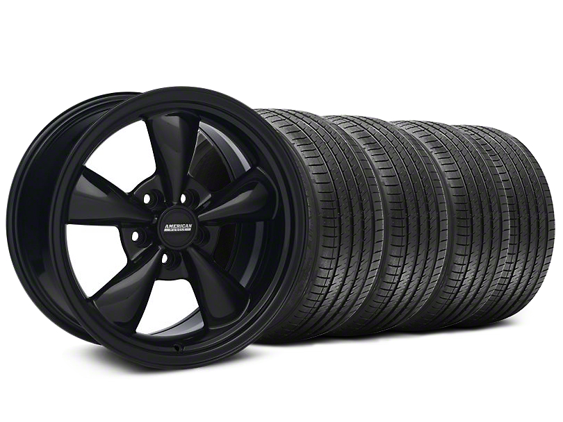 Staggered Bullitt Solid Black Wheel & Sumitomo Tire Kit - 18x9/10 (94-98 All)