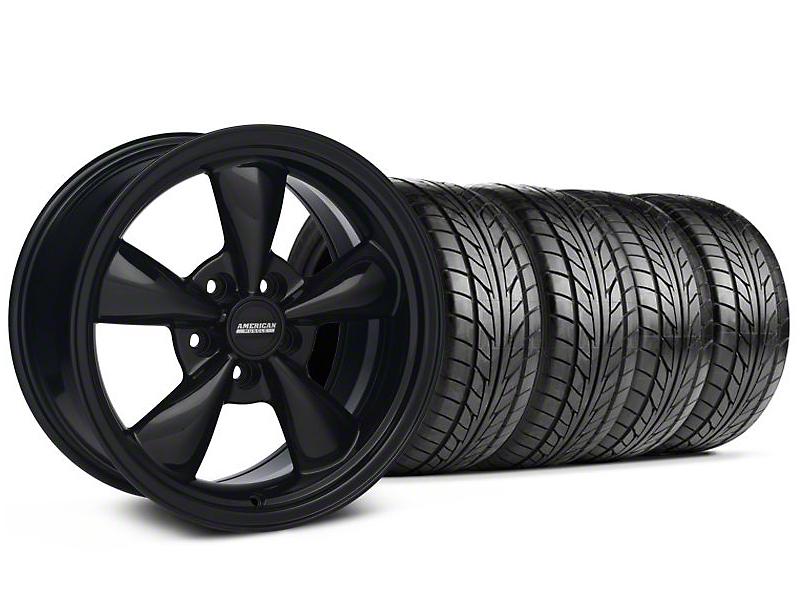 Bullitt Solid Black Wheel & NITTO Tire Kit - 18x8 (99-04 All)