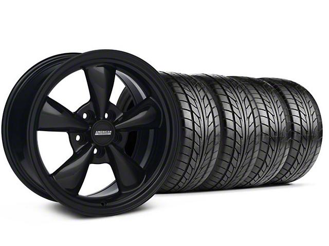Bullitt Solid Black Wheel & NITTO Tire Kit; 18x8 (99-04 All)