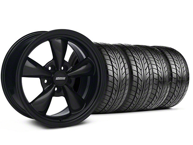 Bullit Solid Black Wheel & NITTO Tire Kit - 18x9 (94-98 All)