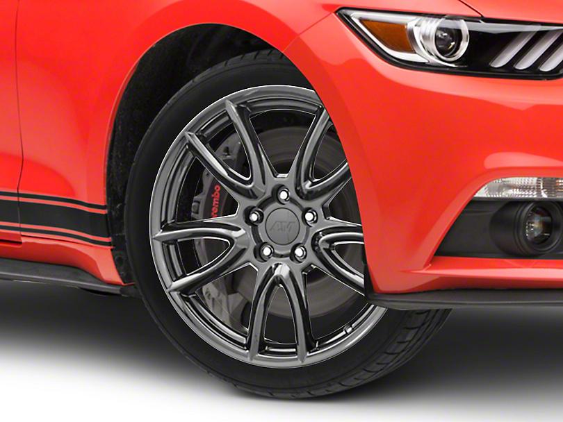 Track Pack Style Gloss Black Wheel - 18x9 (15-17 Ecoboost, V6)