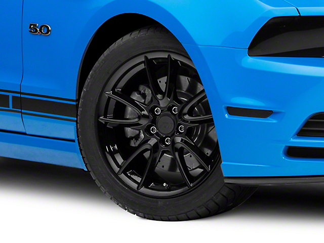 Track Pack Style Gloss Black Wheel; 19x8.5 (10-14 All)