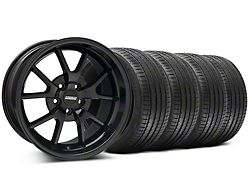 Staggered FR500 Style Gloss Black Wheel and Sumitomo Maximum Performance HTR Z5 Tire Kit; 18x9/10 (99-04 All)