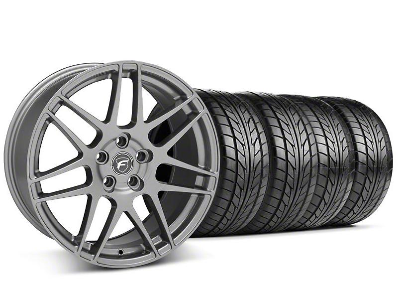 Staggered Forgestar F14 Monoblock Gunmetal Wheel & NITTO Tire Kit - 18x9/10 (94-98 All)