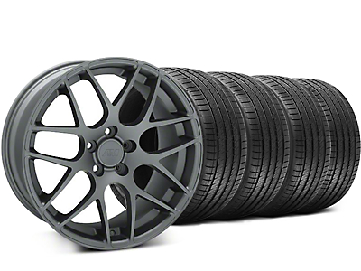 Staggered AMR Charcoal Wheel & Sumitomo Tire Kit - 18x8/9 (94-04 All)