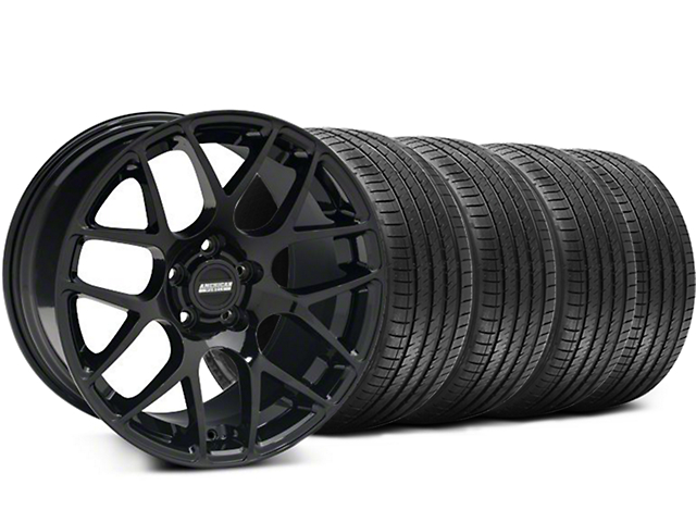 Staggered AMR Black Wheel & Sumitomo Maximum Performance HTR Z5 Tire Kit - 18x8/9 (94-98 All)