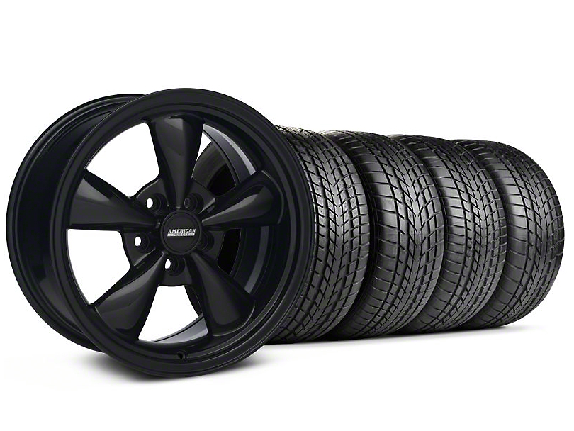 Staggered Bullitt All Black Wheel and Sumitomo Tire Kit; 17x9/10.5 (99-04 All)