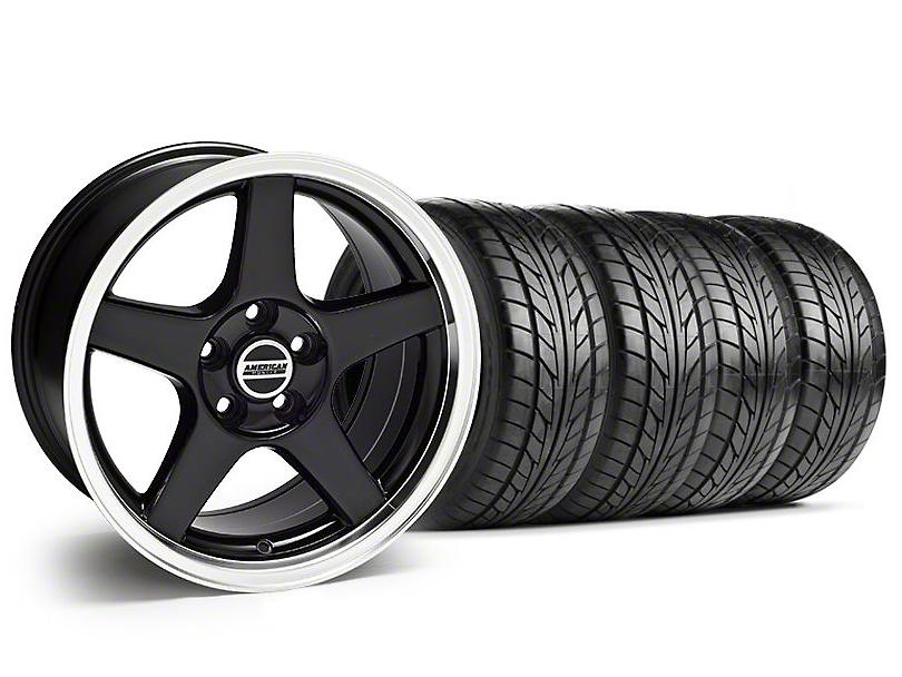 Deep Dish 2003 Cobra Style Black Wheel & NITTO Tire Kit - 17x9 (94-98 All)