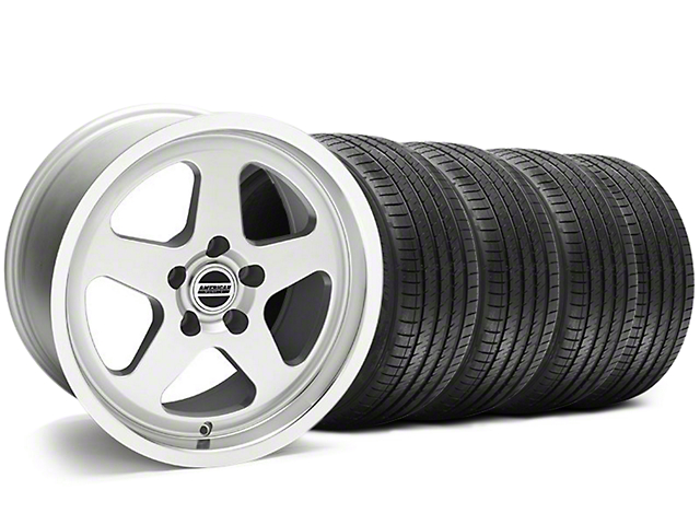 SC Style Silver Wheel and Sumitomo Maximum Performance HTR Z5 Tire Kit; 17x9 (94-98 All)