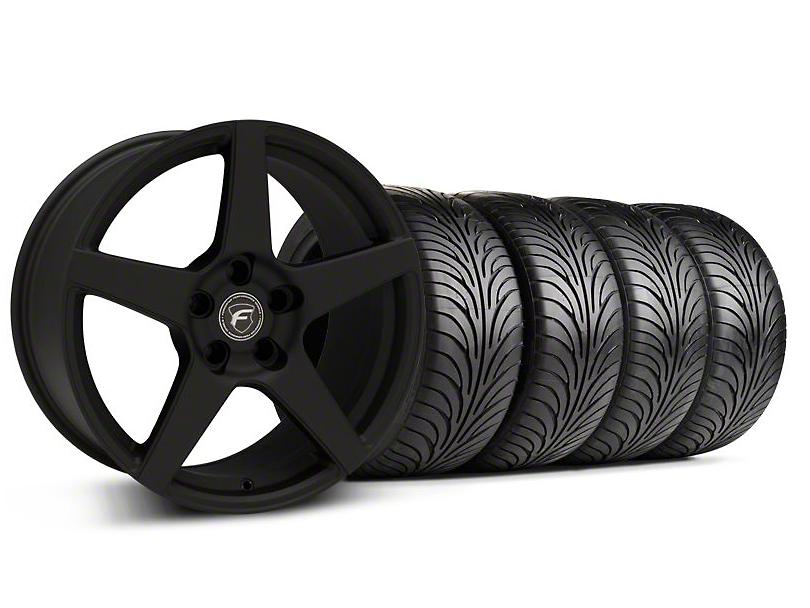 Forgestar CF5 Monoblock Textured Black Wheel & Sumitomo Tire Kit - 18x9 (99-04 All)