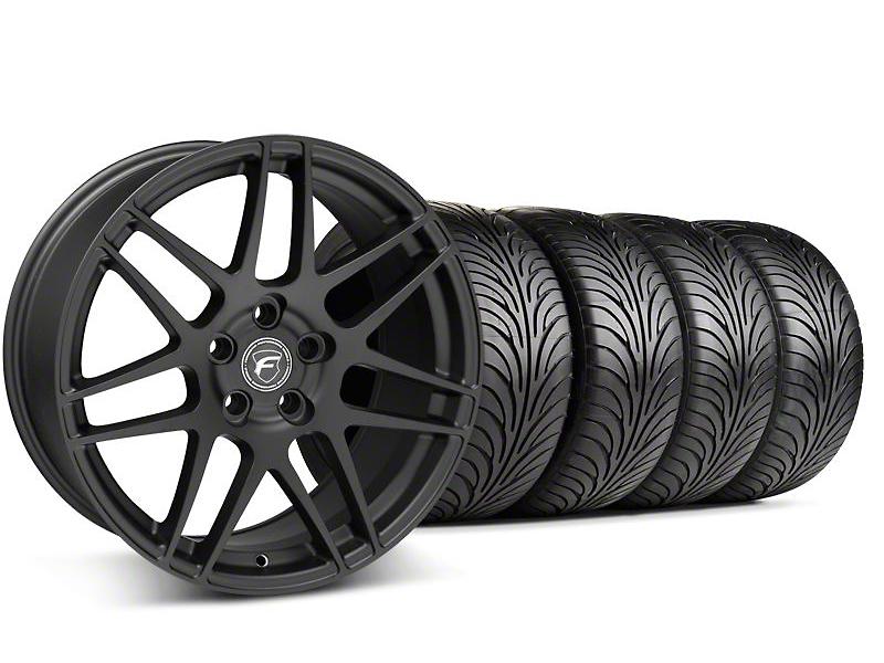 Forgestar F14 Monoblock Textured Black Wheel & Sumitomo Tire Kit - 18x9 (99-04 All)