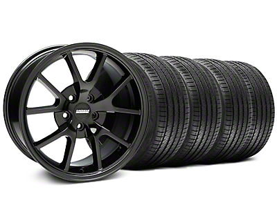 FR500 Style Gloss Black Wheel & Sumitomo Tire Kit - 18x9 (99-04 All)