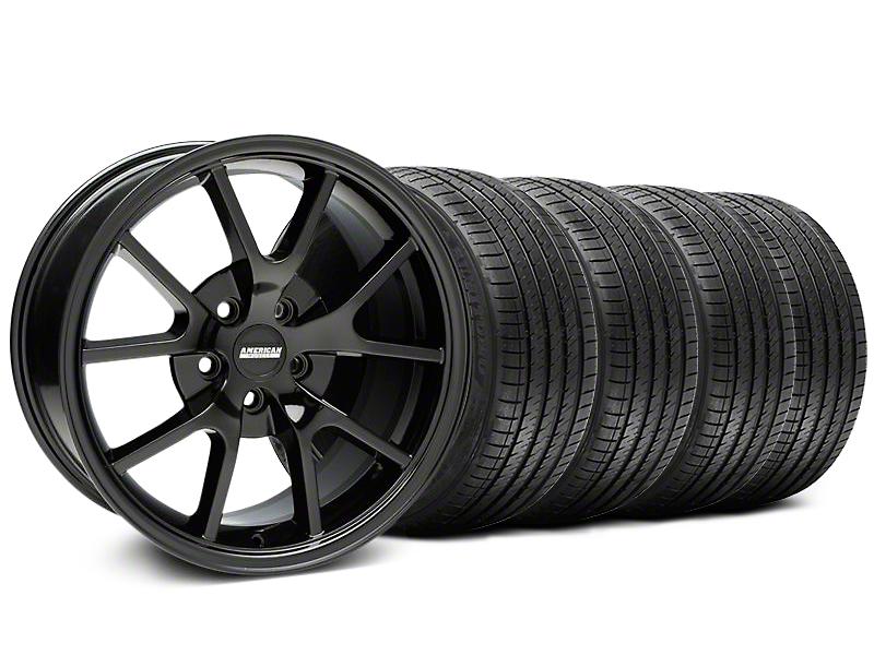 FR500 Style Gloss Black Wheel & Sumitomo Tire Kit - 18x9 (99-04 All)