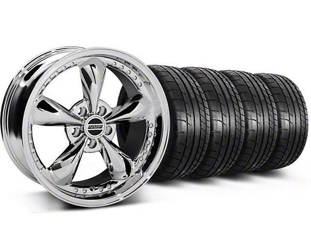 Bullitt Motorsport Chrome Wheel & Mickey Thompson Tire Kit - 18x9 (05-14 Standard GT, V6)