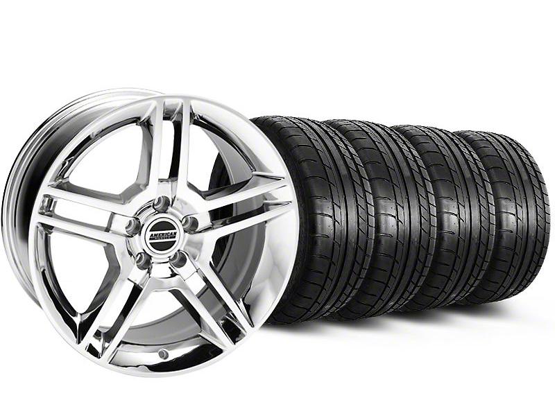 2010 GT500 Style Chrome Wheel & Mickey Thompson Tire Kit - 18x9 (05-14)