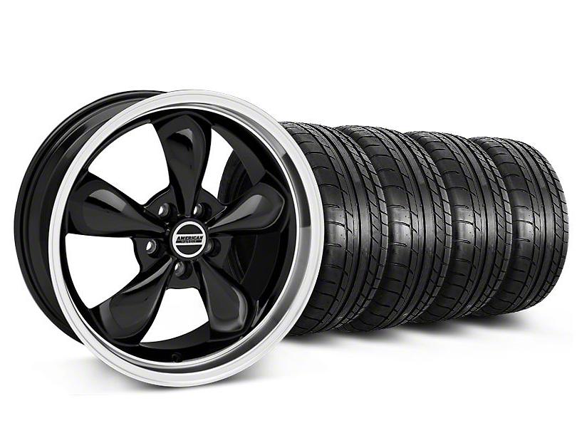 Bullitt Black Wheel & Mickey Thompson Tire Kit - 18x9 (05-10 GT; 05-14 V6)