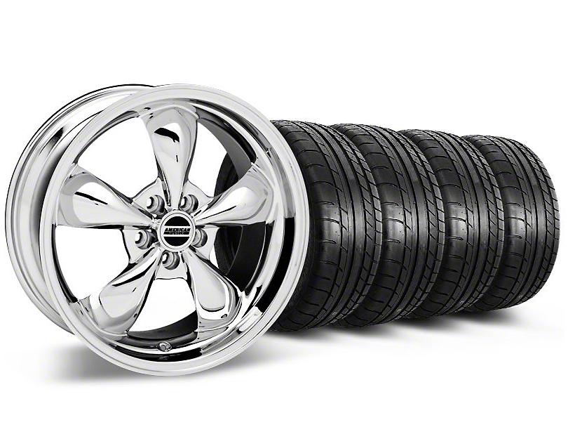 Bullitt Chrome Wheel and Mickey Thompson Tire Kit; 18x9 (05-10 GT; 05-14 V6)