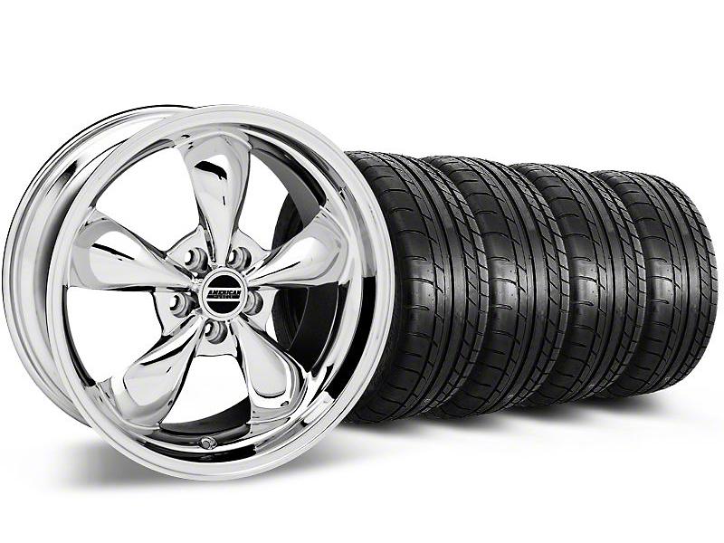 Bullitt Chrome Wheel & Mickey Thompson Tire Kit - 18x9 (05-10 GT; 05-14 V6)