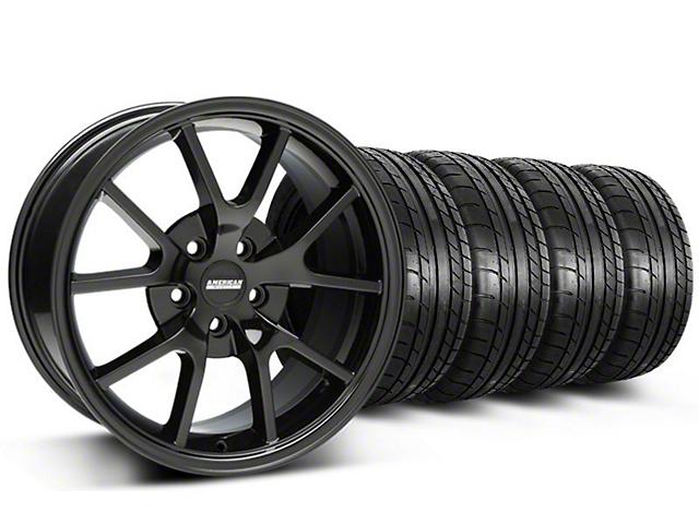 FR500 Style Gloss Black Wheel & Mickey Thompson Tire Kit - 18x9 (05-14 All)