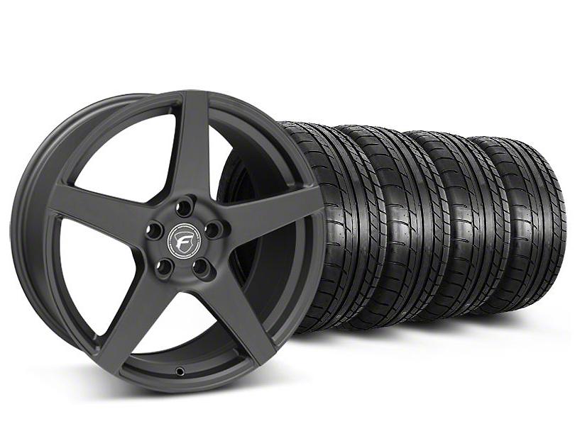Forgestar CF5 Monoblock Matte Black Wheel & Mickey Thompson Tire Kit - 18x9 (05-14 All)