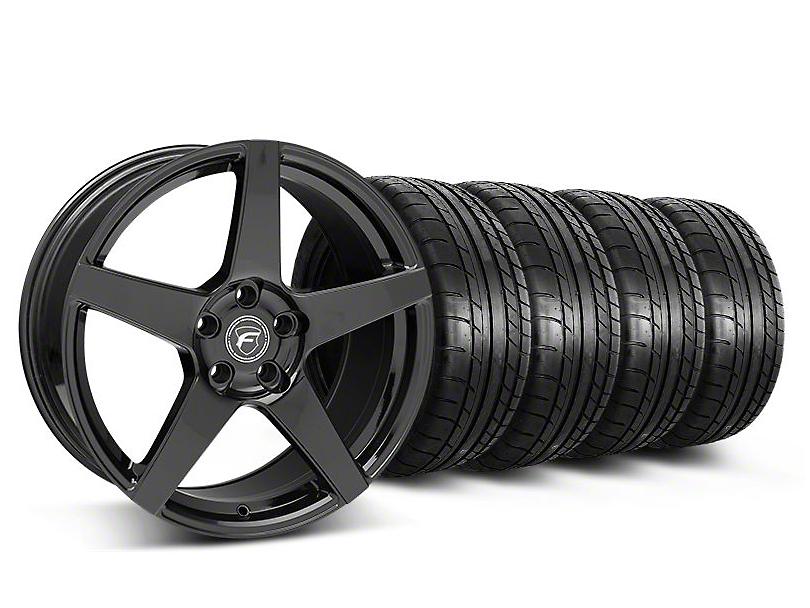 Forgestar CF5 Monoblock Gloss Black Wheel & Mickey Thompson Tire Kit - 18x9 (05-14 All)
