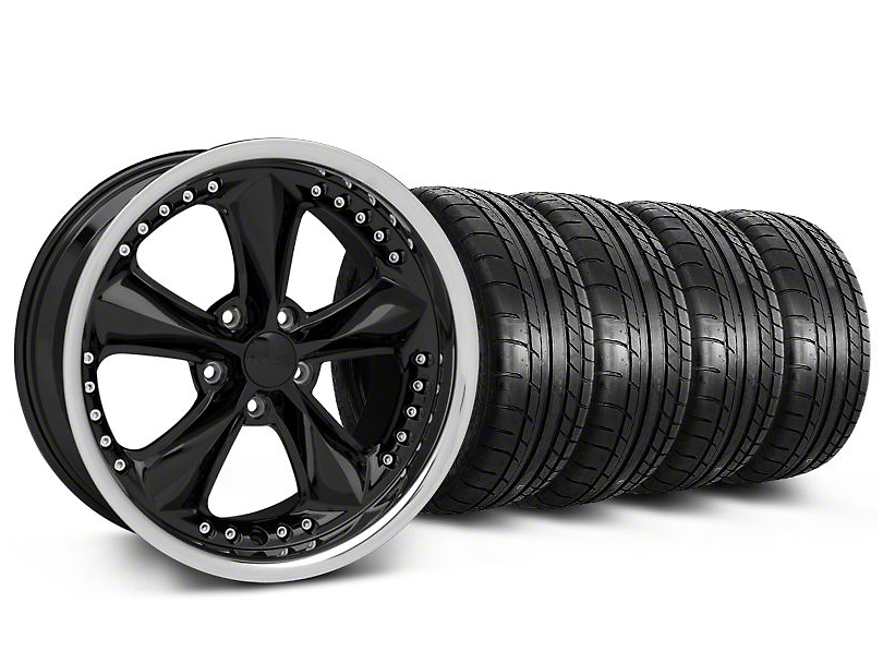 Foose Nitrous Black Wheel & Mickey Thompson Tire Kit - 18x9 (05-14 All)