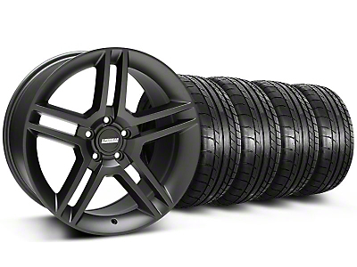 2010 GT500 Style Matte Black Wheel & Mickey Thompson Tire Kit - 18x9 (05-14 All)