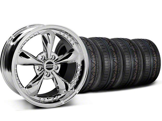 Bullitt Motorsport Chrome Wheel & NITTO INVO Tire Kit - 18x9 (05-14 GT, V6)