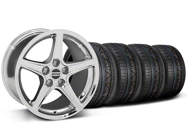 Saleen Style Chrome Wheel and NITTO INVO Tire Kit; 18x9 (05-14 GT, V6)