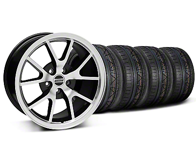 FR500 Style Black Machined Wheel & NITTO INVO Tire Kit - 18x9 (05-14 All)
