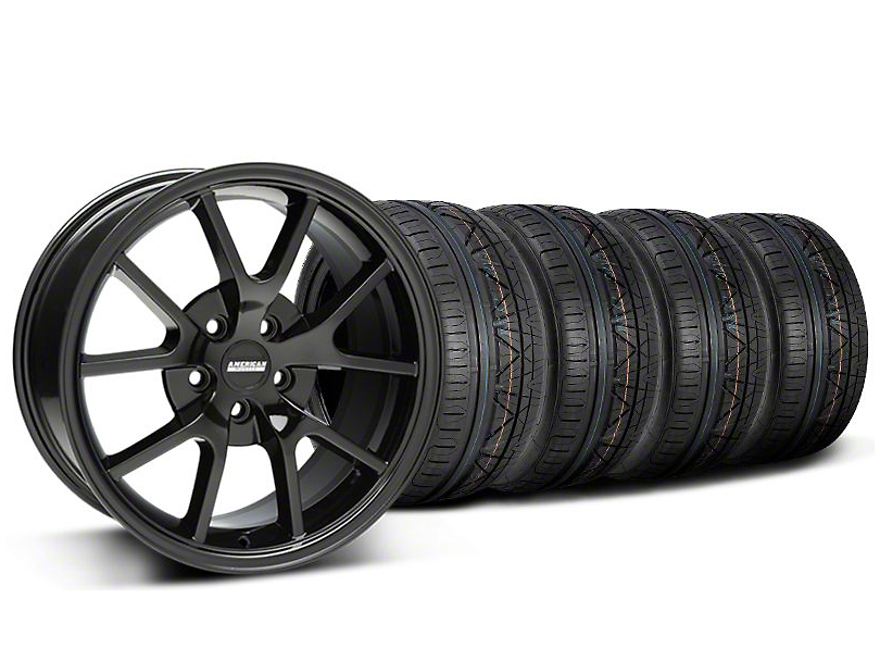 FR500 Style Gloss Black Wheel & NITTO INVO Tire Kit - 18x9 (05-14 All)
